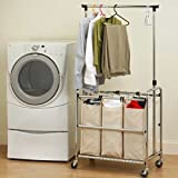 Vancouver Classics Laundry Sorter with Hanger Bar
