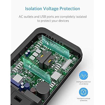 BESTEK 200W Power Inverter DC 12V to 110V AC Inverter with 4.2A 4-Port USB Car Adapter (Black) : Electronics