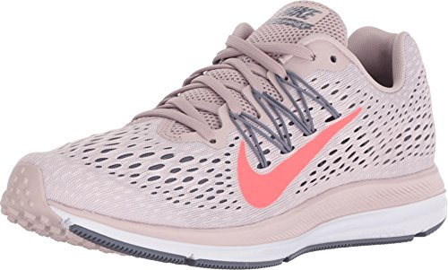 Nike Women's Air Zoom Winflo 5 Running Shoe (6.5 M US, Particle Rose/Flash Crimson)