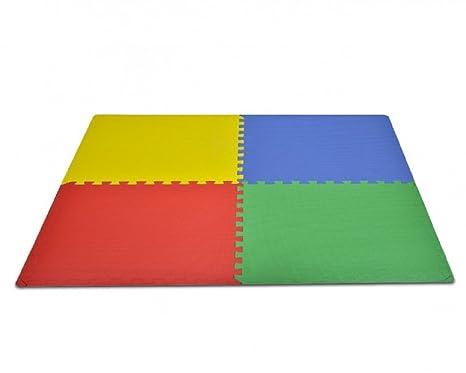 Tappeto puzzle protettivo 4 tessere 60 x 60 x 1 cm componibili