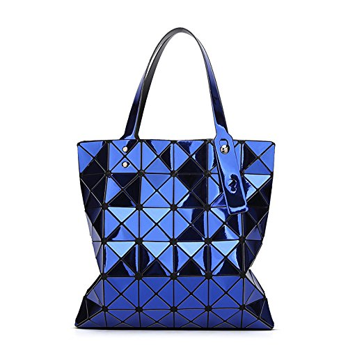 KYOKIM Rhombus Pliant Géométrique Mode Sac à Bandoulière Portable Lady Sac Blue