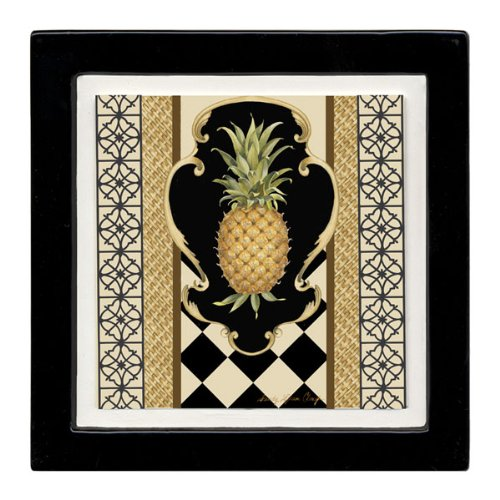 Thirstystone Ambiance Coaster Set, Pineapple Scroll, Multicolored