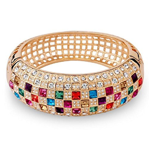 Yuriao Jewelry Luxury Queen Exquisite Diamond Accented Bangle Bracelet£¨colorful£