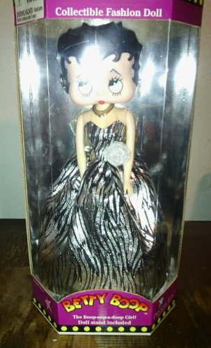Betty Boop Long Red Dress 12'' Doll w/ Stand by M-toy Betty Boop Long Dress