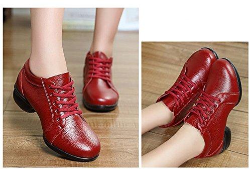 Scarpe Da Ballo Outdoor Donna Jiye Moda Sneakers Sportive Traspiranti Di Colore Rosso A