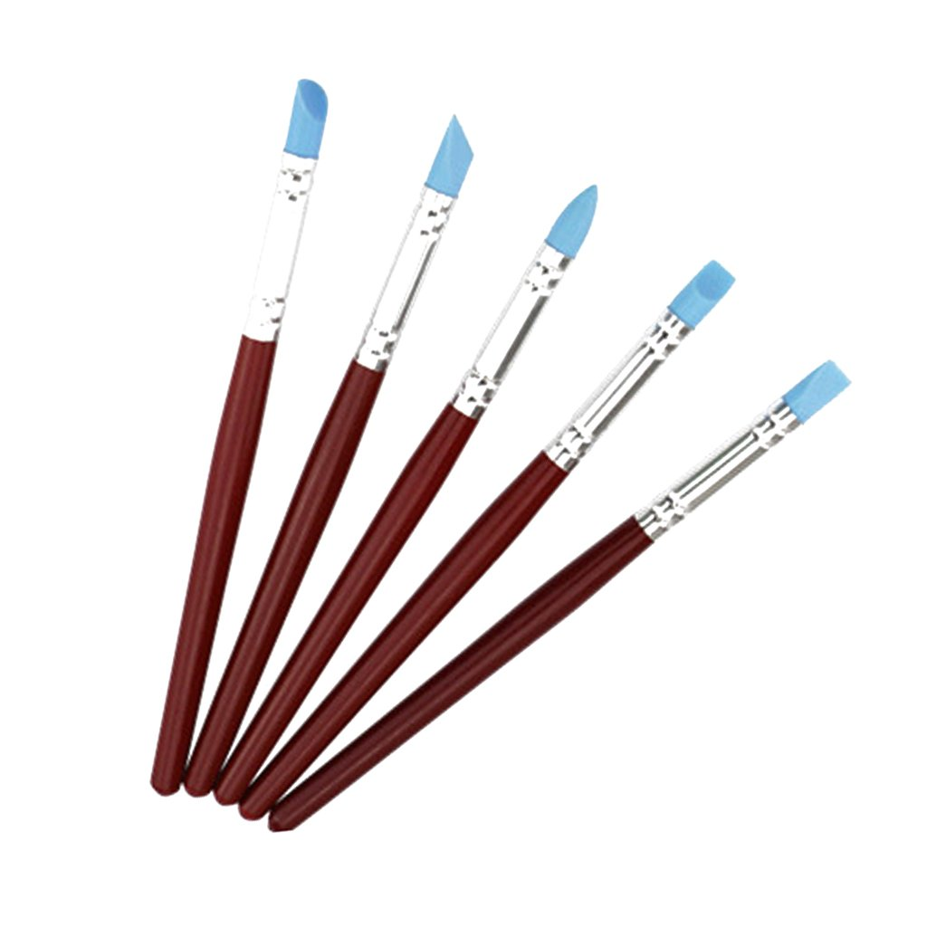 Pack of 5 Silicone Color Shapers Clay Cake Sculpting Tools Pottery Painting Molding Generic STK0155008886