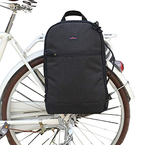 TOURBON Nylon Clip-On Bike Panniers Backpack 15