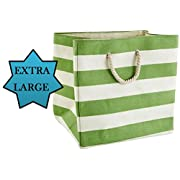 Large Storage Baskets and Bins - Store Toys, Laundry, Clothes for a Bedroom, Kids Room, Nursery, Home Office, Living or Family Room - Green
