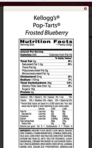 Pop-Tarts Frosted Blueberry Toaster Pastries (1 Pack) 29.3 OZ by Pop-Tarts