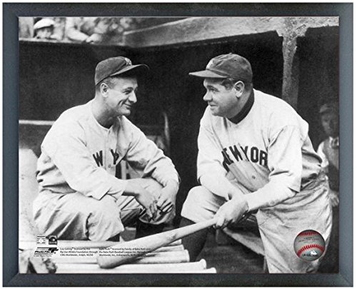 Babe Framed Ruth (Babe Ruth & Lou Gehrig New York Yankees MLB Action Photo (Size: 12
