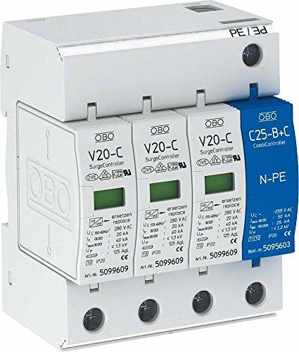OBO Bettermann Surge Controller Überspannungsschutz 3+NPE Modular 5094656