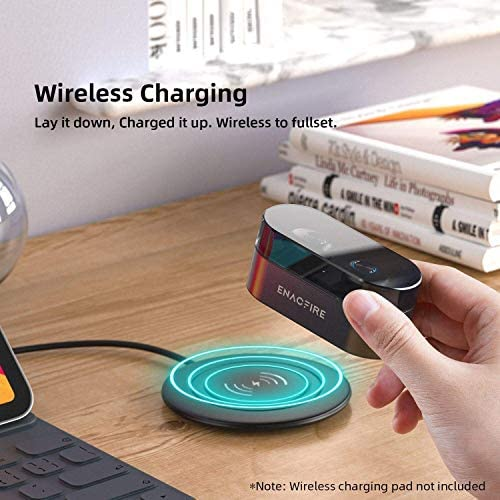 Wireless Earbuds ENACFIRE E18 Plus Bluetooth Earbuds with Wireless Charging Case CVC80 3D Stereo