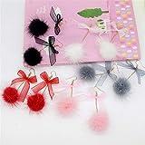 Trendy Plush Drop Tassel Earrings For Women Elegant Apricot Pom Pom Drop Earring Fashion Minimalist Long Pom Pom Earrings