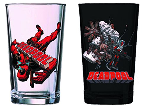 Surreal Entertainment Deadpool Pint Glass Set (2 Pack)
