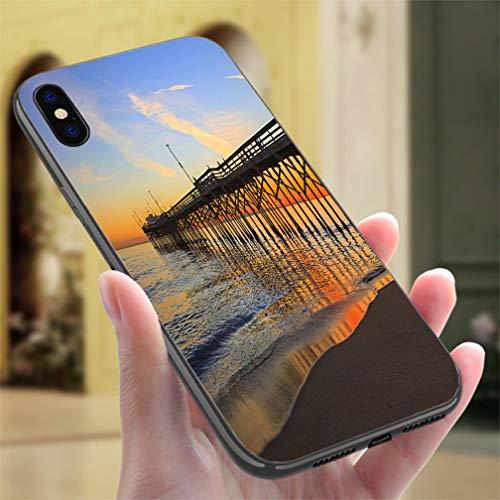 (iPhone 7/8 Color casePBalboa Pier Orange County California Resistance to Falling, Non-Slip,Soft,Convenient Protective Case )