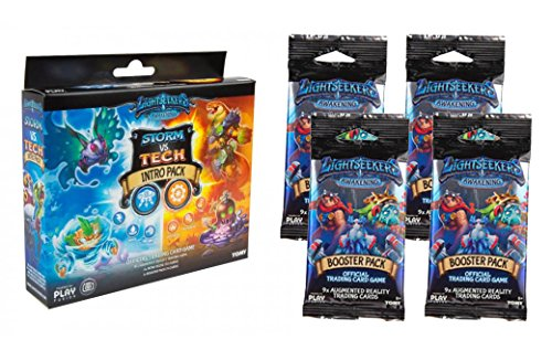 Lightseekers Awakening TCG Storm VS Tech Intro Pack + 4 Lightseekers Awakening Booster Packs by LIghtseekers