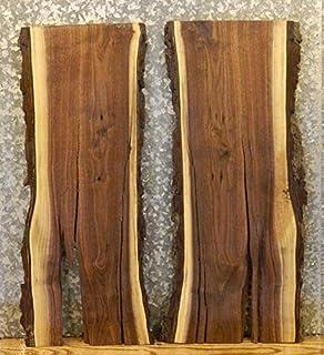 2  Reclaimed Live Edge Black Walnut End Table Tops/Wood Shelf Slabs 8494