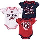 ST Louis Cardinals 3 Piece Creeper Set - Girls 6-9 Months