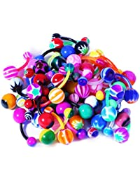 Belly Button Rings 50/100 14G Piercing Jewelry Assorted Lot