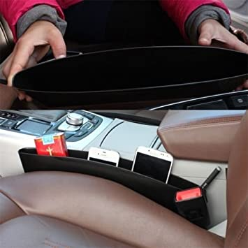 GLOGLOW Car Seat Catcher,Auto Console Gap Slit Filling Organizer Phone Card Key Holder for Adults /& Kids Featuring 8 Storage Compartments Beige