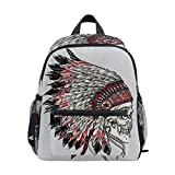 Age 3-8 Native American Indian Art Prints Toddler Preschool Backpack, Children Kids Travel Rucksack Lunch Bags for Boy Girl