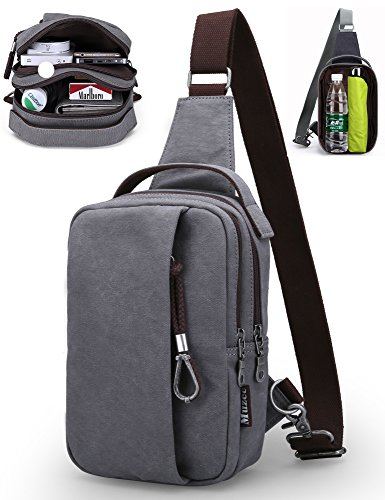 New Fashion Mens Bag (Muzee Sling Bag Chest Shoulder Gym Backpack Sack Satchel Outdoor Crossbody Bag (New grey))