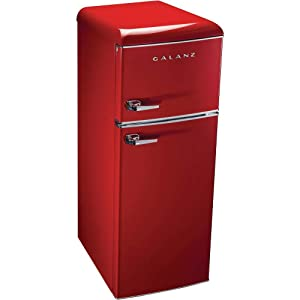 Galanz 7.6 cu. ft. Mini Refrigerator in Red