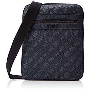 Guess Men's City Logo Flat Crossbody Messenger Bag