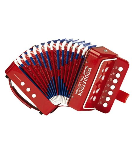 Child Sized Accordion with Illustrated Song Sheet