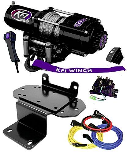KFI Combo Kit - U45-R2 4500lbs Winch & Mount Bracket - Yamaha Rhino 450/660/700