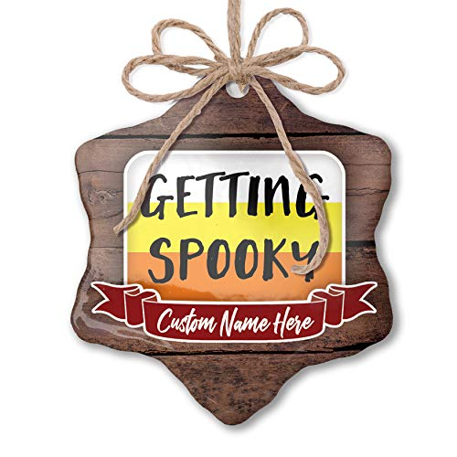 NEONBLOND Custom Family Ornament Getting Spooky Halloween Candy Corn Personalized Name -