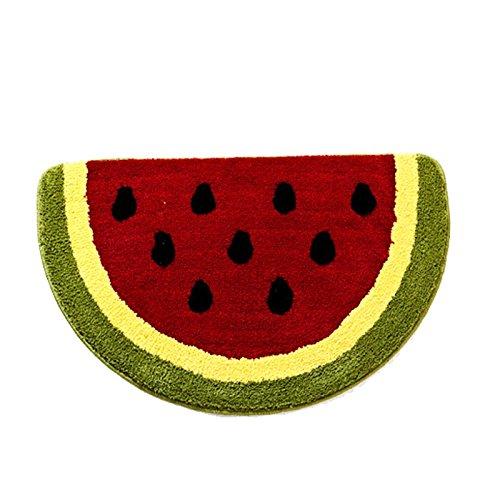 Semicircle-Watermelon-Pattern-Kitchen-Rug-196Wx314L-Superfine-Fiber-Non-Slip-Doormats-For-KitchenBathroomBedroom-