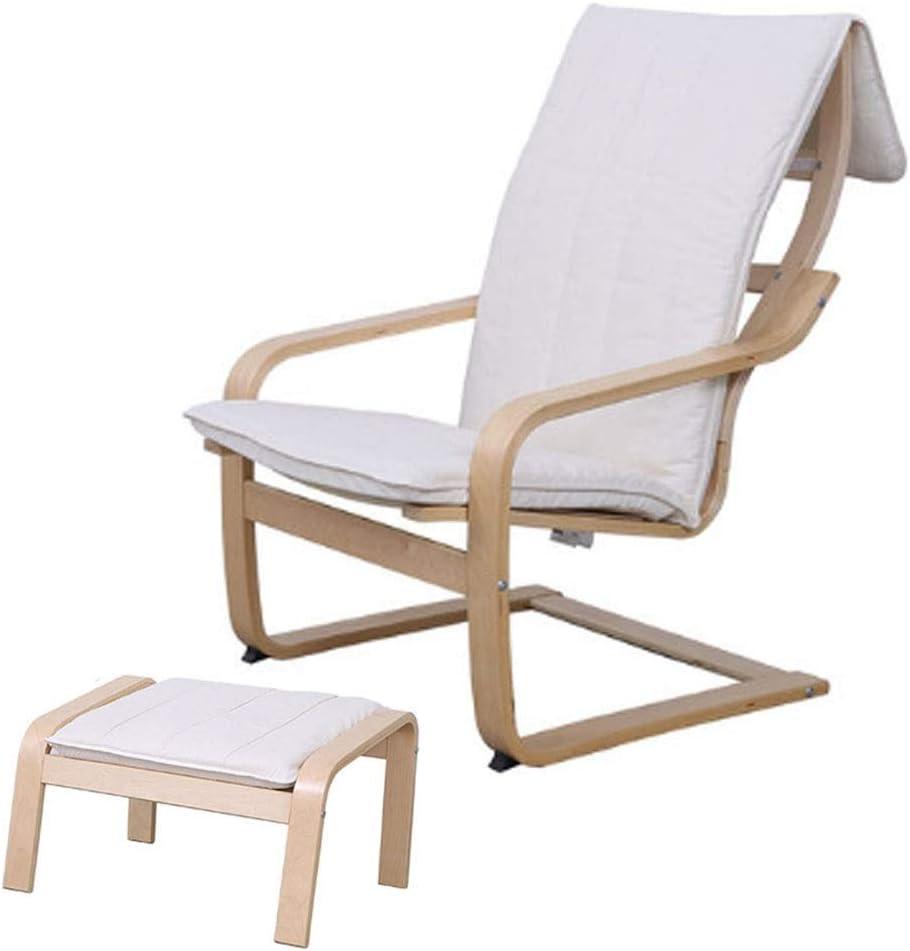 Chaise Longue en Bois Massif Chaise Pliante Déjeuner Chaise