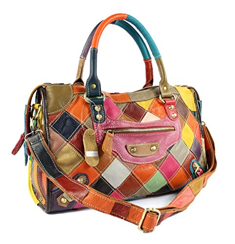 Longzibog Leather 2016 New Simple Style Fashion Tote Top Handle Shoulder Cross Body Bag Satchel Multicolor