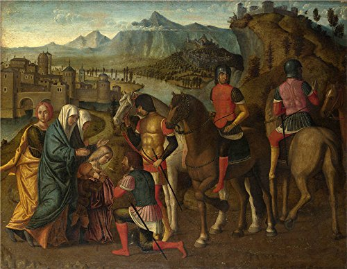 Oil Painting 'Coriolanus Persuaded By His Family To Spare Rome 1495-1510, Michele Da Verona' 18 x 23 inch / 46 x 59 cm , on High Definition HD canvas prints, Game Room, Laundry Room And Nurser decor