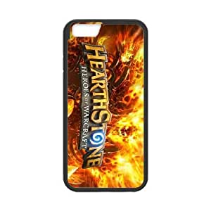 Hearthstone HEROES OF WARCRAFT 13 funda iPhone 6 4.7 pufunda LGadas funda caja del teléfono celular cubren negro, funda iPhone 6 4,7 casos pufunda LGadas Funda negro