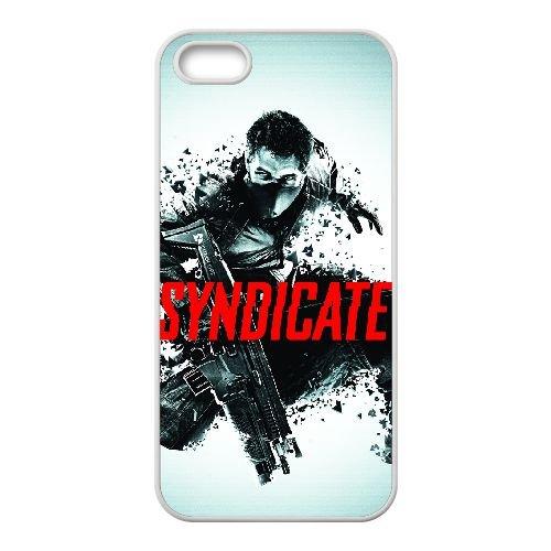 Syndicate 6 coque iPhone 5 5s cellulaire cas coque de téléphone cas blanche couverture de téléphone portable EEECBCAAN08909