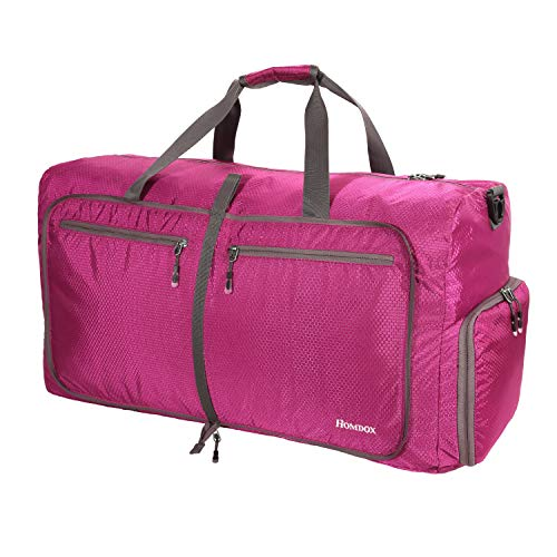 (Homdox Large Gym Duffle Bag for Women,Foldable 80L Girls Duffel Bag Waterproof Lightweight Duffle Bag for Camping)
