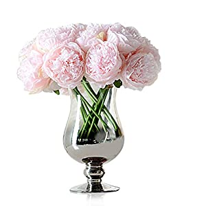Newest trent 1Bouquet 5 Heads Artificial Peony Silk Flower Leaf Home Bridal Wedding Party Festival Bar Decor 114