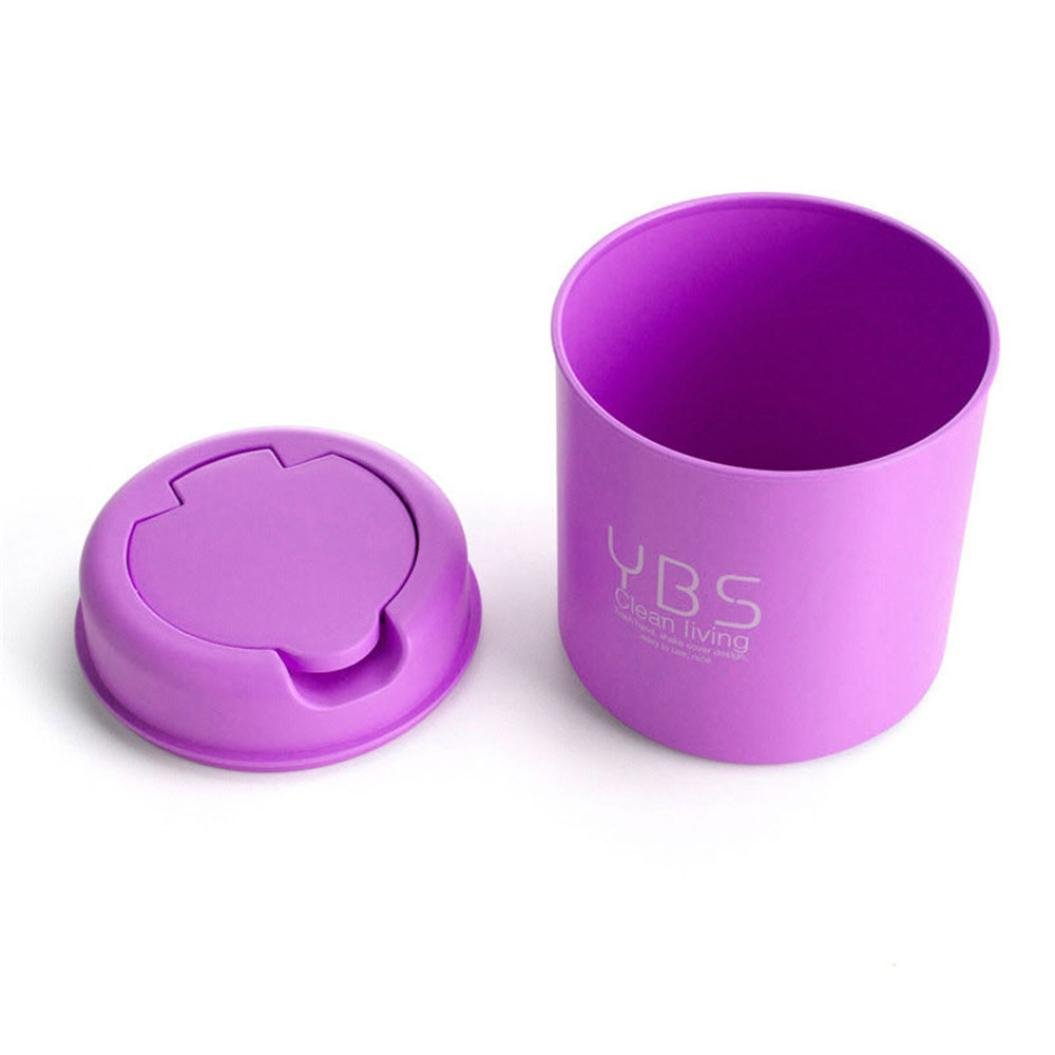 squarex Trumpet Desktops Mini Trash Can Creative Covered Kitchen Living Room Purple