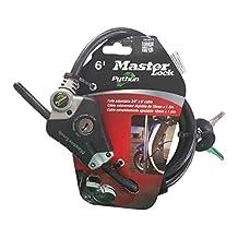 Master Lock 8428DPS Python Adjustable Locking Cable, 6-Feet