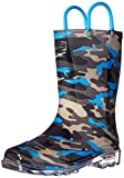 Western Chief Boys Waterproof Rain Boots That Light up with Each Step, Camo Blue, 11 M US Little Kid