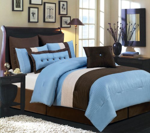 Chocolate Blue Comforters - 2