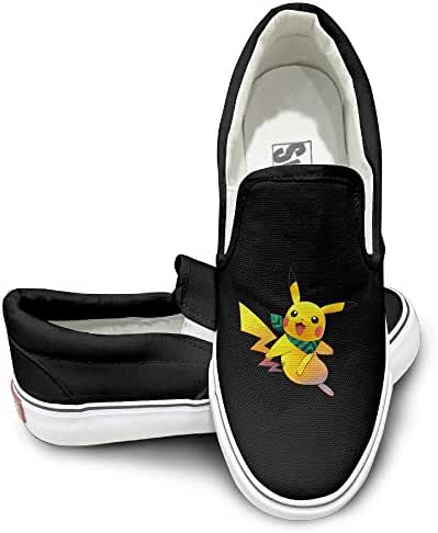 Pokemon Pikachu Jump Mens Casual Slip-On Shoes Classic Boat Shoes