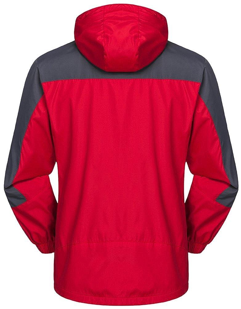 Mochoose Uomo Outdoor Mountain Impermeabile Windbreaker Softshell Giacche con Cappuccio Sci Sportwear Rain Coat Campeggio Pesca Caccia Working Jacket