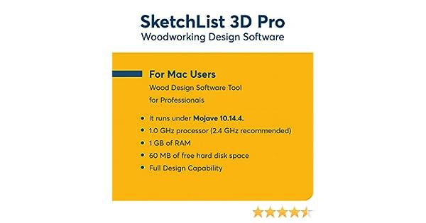 Amazon Com Sketchlist3d Pro Woodworking Software For Mac