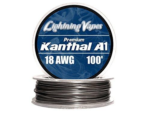 Genuine Lightning Vapes Kanthal 18 Gauge AWG A1 Wire 100ft Roll 1.02mm , 0.515 Ohms/ft Resistance