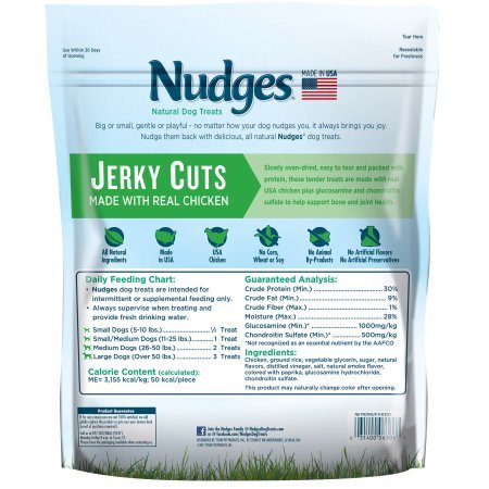 PACK OF 2 - Nudges Health and Wellness Chicken Jerky Dog Treats, 36 oz. by Nudges (Image #1)