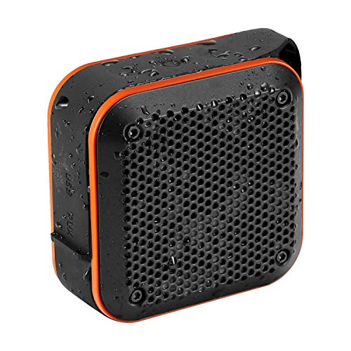 Portable Waterproof Bluetooth Speaker with FM (2019 New) IPX8 Waterproof Speaker Small Outdoor Wireless Portable Speaker TWS Stereo 10H Playtime for Shower Bath Pool Beach Home Party Travel