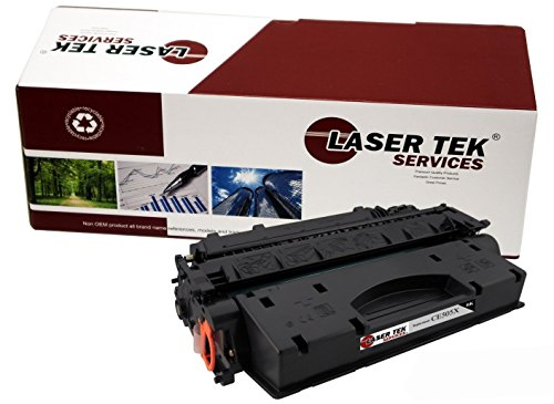 Laser Tek Services Compatible Toner Cartridge High Yield Replacement for HP CE505X, 05X (Black)